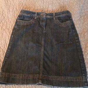Biden dark denim a-line skirt EUC US 8R, UK 12 R